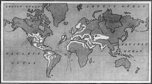 A map of Atlantis from Ignatius L. Donnelly's Atlantis: the Antediluvian World, 1882